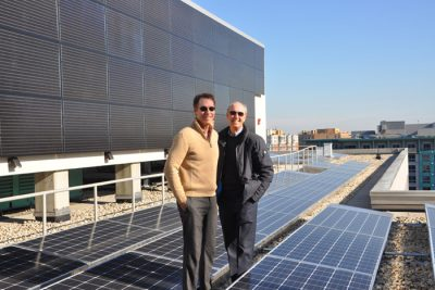 Herb Stevens Jeffrey Lesk at solar array 400x267 Washington DC Clean Energy Plan Leads the Way