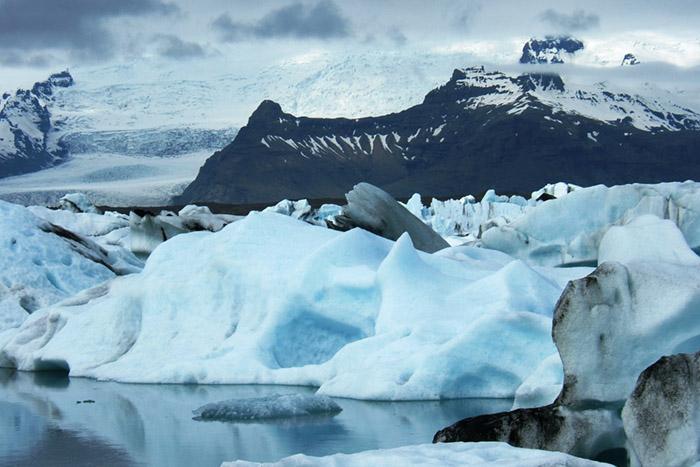 Svinafellsjokull glacer Svinafellsjokull glacer