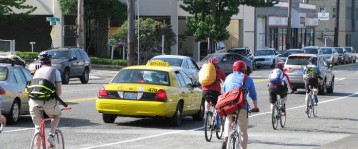 Biking to Work. Credit: Oran Viriyincy