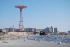 beach nourishment at Coney Island, NY
